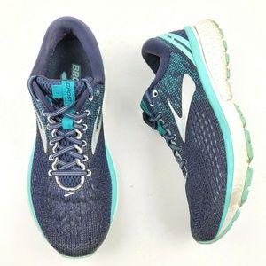 BROOKS Ghost 11 Blue Mesh Running Sneakers S9